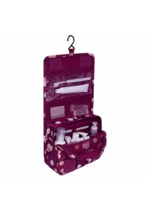Travel Toiletry Cosmetic Hanging Bag Storage High Quality (Daisy Purple)