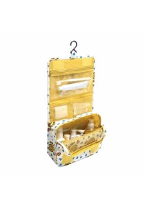 Travel Toiletry Cosmetic Hanging Bag Storage High Quality (Yellow Smile)