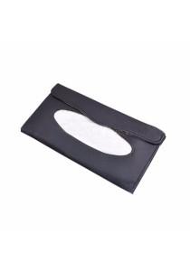 Elegant Slim Car Sun Visor Tissue Box Holder Clip Sun Visor Back Seat (Black)