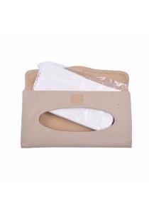 Elegant Slim Car Sun Visor Tissue Box Holder Clip Sun Visor Back Seat (Cream)