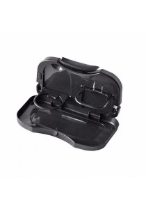 Car Vehicles Multipurpose Foldable Foods Drink Travel Dining Tray (Black)