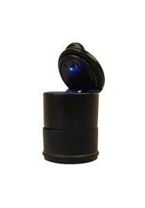 Portable Car Auto LED Cigarette Smokeless Cylinder Ashtray Holder