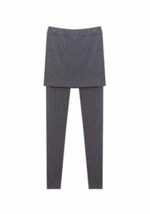 Korean 2-in-1 Look Slim Bodycon Skirt Legging