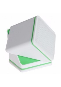 In Car Gadget Holder 360-degree Rotate Cube (White)