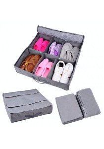 Bamboo Charcoal Hard Cover Shoe Organizer 6 Pairs