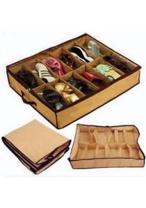 Shoe Organizer Storage Box Holder Under Bed Closet 12 Pairs