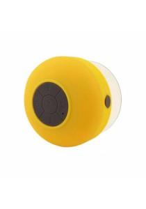 Mini Waterproof Wireless Speaker + Mic Suction Cup (Yellow)