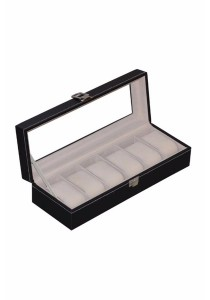 Premium PU Leather Watch Display & Storage Box Case 6