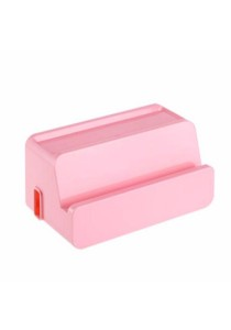 Multifunctional Desk Organizer Electrical Wire Cable Box Storage Box (Pink)