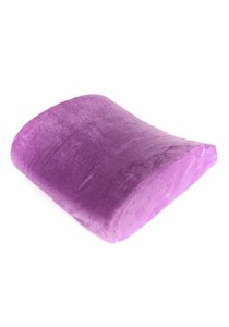 High Density Memory Foam Seat Chair Lumbar Back Support Pillow (Purple)