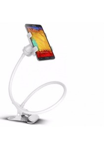 Heavy Duty Lazy Bed Bracket Phone Holder Stand Mount Phone (White)