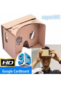 Google Cardboard VR 3D Glasses for Android, iOS Phone (With NFC Support)