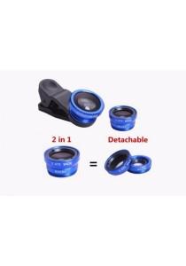3-in-1 (Fish-Eye, Macro & Wide Angle) Universal Mobile Phone Lens Set (Blue)