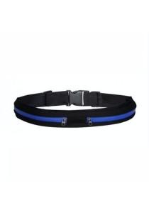 Elastic Waist Belt Double Pouch (Blue)