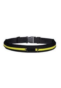 Elastic Waist Belt Double Pouch (Yellow)