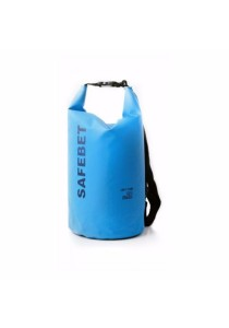 SAFEBET Thick Waterproof Dry Bag FREE Shoulder Strap Belt Beach Swimming (Blue) - 10 L