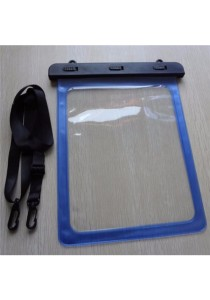 Swimming IPX8 Waterproof Dry Bag Case Cover for iPad Galaxy Tablet (Blue)