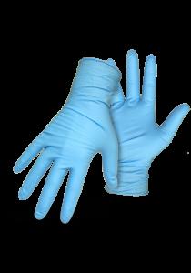 100 Nitrile Disposable Powder-Free Medical Exam (Latex Free) Gloves 4.5 Mil - Light Blue