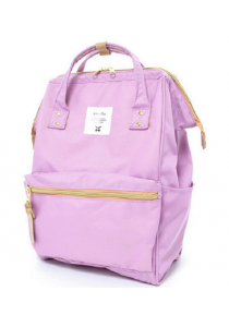 100% Authentic Anello (Regular) Backpack - Polyester Canvas Light Violet