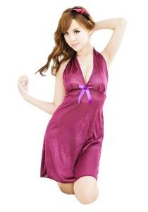 FASHION TEE 1084 Kimono Babydoll Lingerie Sleepwear (Purple)