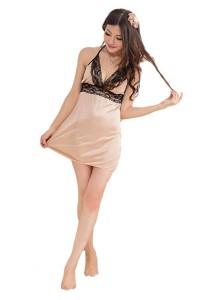 FASHION TEE 1199 Kimono Babydoll Lingerie Sleepwear (Skin Colour)