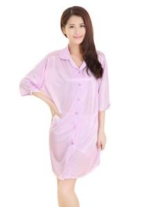 FASHION TEE 12128 Kimono Babydoll Lingerie Sleepwear (Purple)
