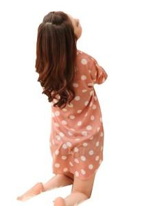 FASHION TEE 12130 Kimono Babydoll Lingerie Sleepwear (Orange)