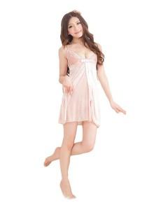 FASHION TEE 1598 Kimono Babydoll Lingerie Sleepwear (Skin Colour)