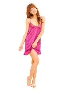 FASHION TEE 1679 Kimono Babydoll Lingerie Sleepwear (Purple)