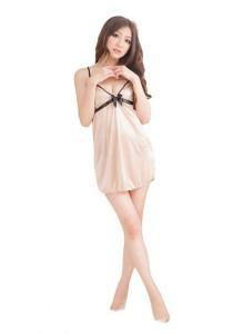 FASHION TEE 2267 Kimono Babydoll Lingerie Sleepwear Special Series (Skin Colour)