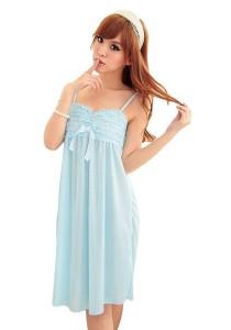 FASHION TEE 47728 Kimono Babydoll Lingerie Sleepwear (Blue)