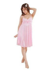 FASHION TEE 56489 Kimono Babydoll Lingerie Sleepwear (Pink)