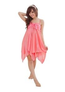 FASHION TEE 71036 Kimono Babydoll Lingerie Sleepwear (Light Pink)