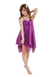 FASHION TEE 71037 Kimono Babydoll Lingerie Sleepwear (Purple)