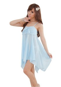 FASHION TEE 71040 Kimono Babydoll Lingerie Sleepwear (Sky Blue)