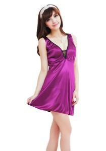 FASHION TEE 7679 Kimono Babydoll Lingerie Sleepwear Special Series (Purple)
