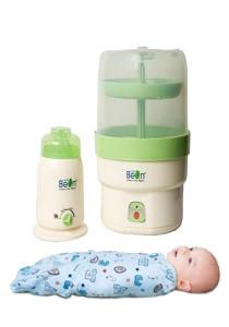 Little Bean Sterilizer & Bottle Warmer Combo Set + FREE Swaddle (Random Design)