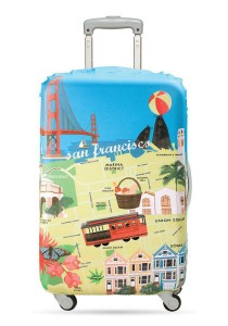 Loqi Urban Medium Luggage Cover (San Francisco)