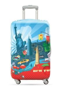 Loqi Urban Luggage Cover (New York) (Medium)