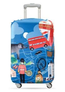 Loqi Urban Luggage Cover (London) (Medium)