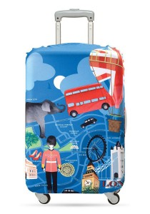 Loqi Urban Luggage Cover (London) (Large)