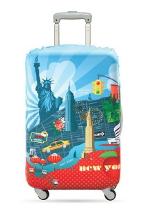 Loqi Urban Luggage Cover (New York) (Large)