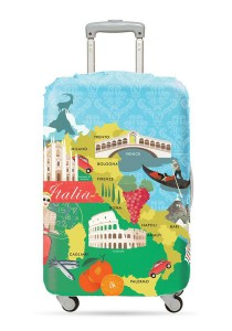 Loqi Urban Luggage Cover (Italy) (Medium)