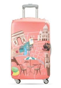 Loqi Urban Medium Luggage Cover (Paris)