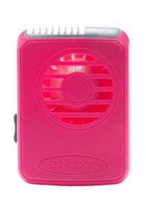 O2Cool Deluxe Necklace Fan (Raspberry)
