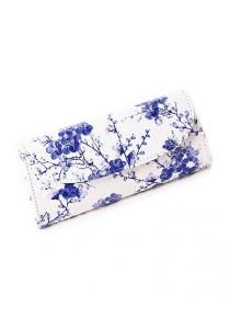 LinkedinLove Artistic Blue Floral Clutch and Sling Bag
