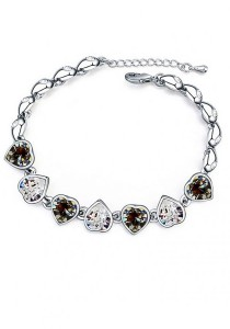 LinkedinLove Swarovski Sweet Love Bracelet (Black)