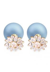 LinkedinLove Swarovski Stud Earrings Daisy Valley (Blueberry)