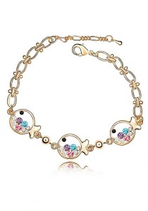 LinkedinLove Swarovski Little Fish Bracelet (Multi)