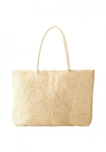 LinkedinLove Back To Nature Woven Straw Tote Bag (Beige)